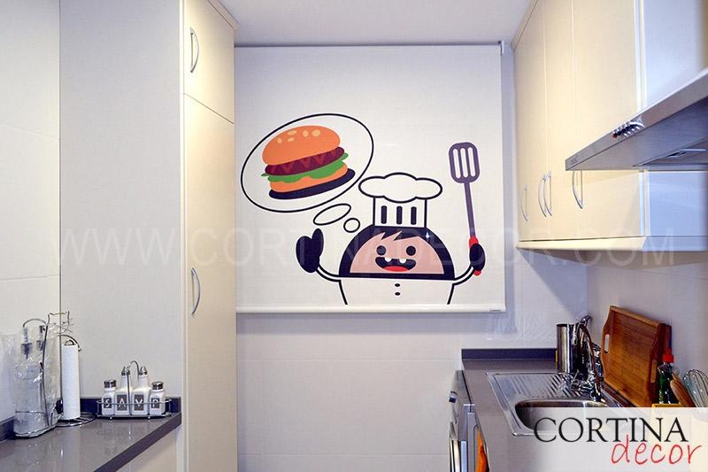 estores personalizados para cocina en cortiandecor