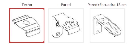 Tipo de soporte Cortinas Plisadas Basics