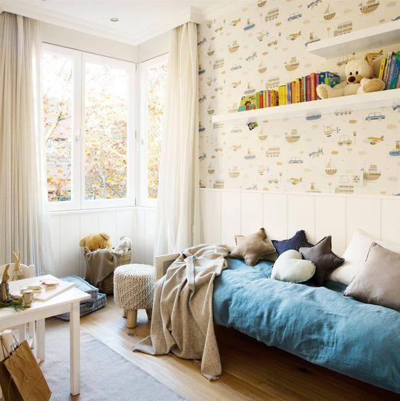 cortinas lino para cuartos infantiles