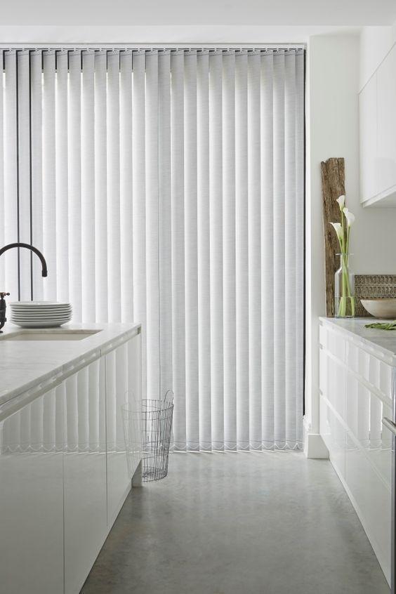cortinas de lamas verticales